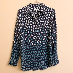 Equipment Earl Long Sleeve Silk Blouse Small
